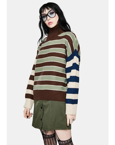 Brownie Pass The Punch Multi Stripe Sweater