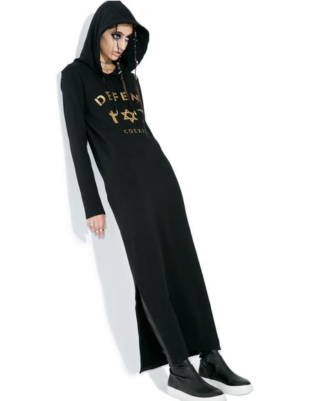 April Hoodie Maxi Dress