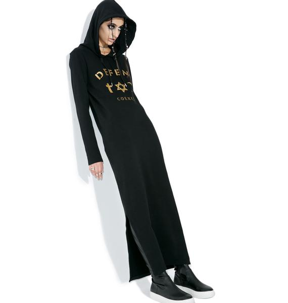 Defend Paris April Hoodie Maxi Dress