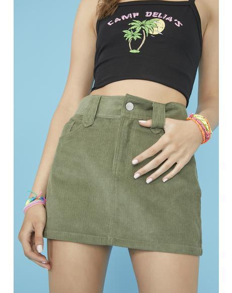 Skippin' School Corduroy Skirt