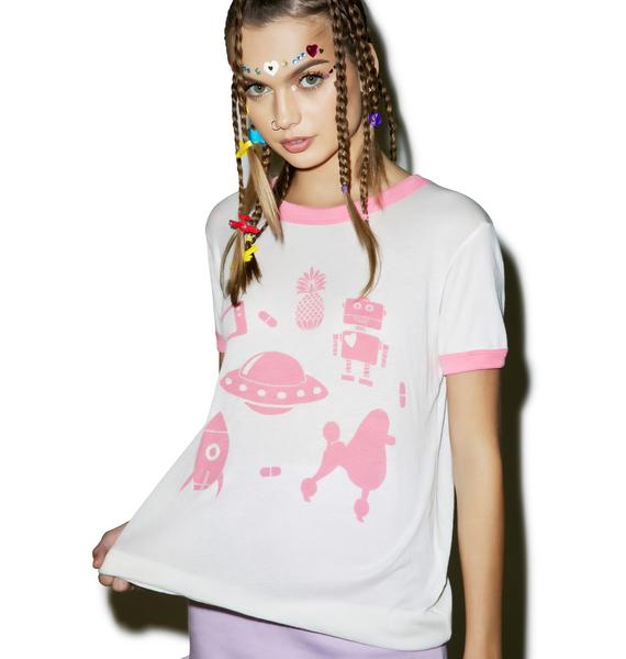 Wildfox Couture Doll Life Vintage Ringer Tee