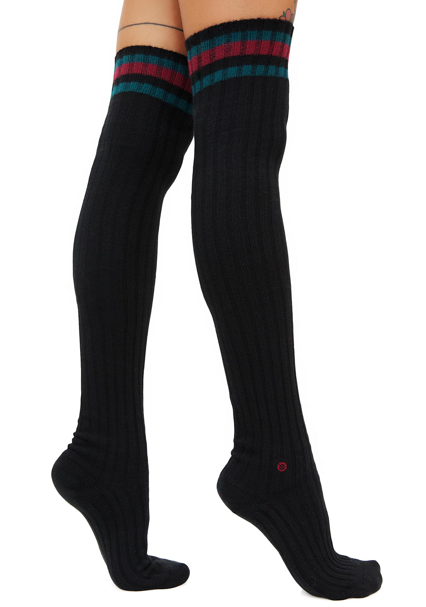 Stance Dark Matter Over The Knee Socks