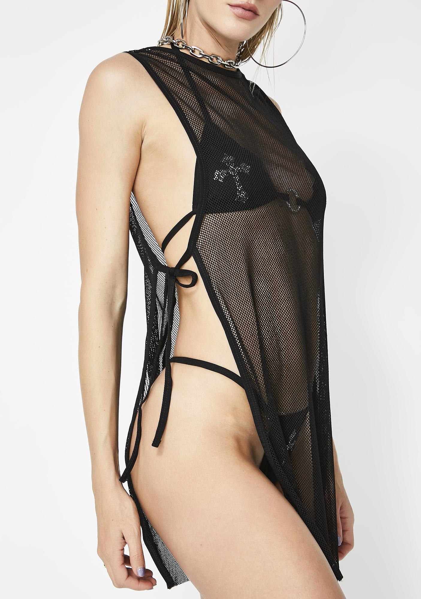 Poster Grl Never Censored Mesh Cover Up