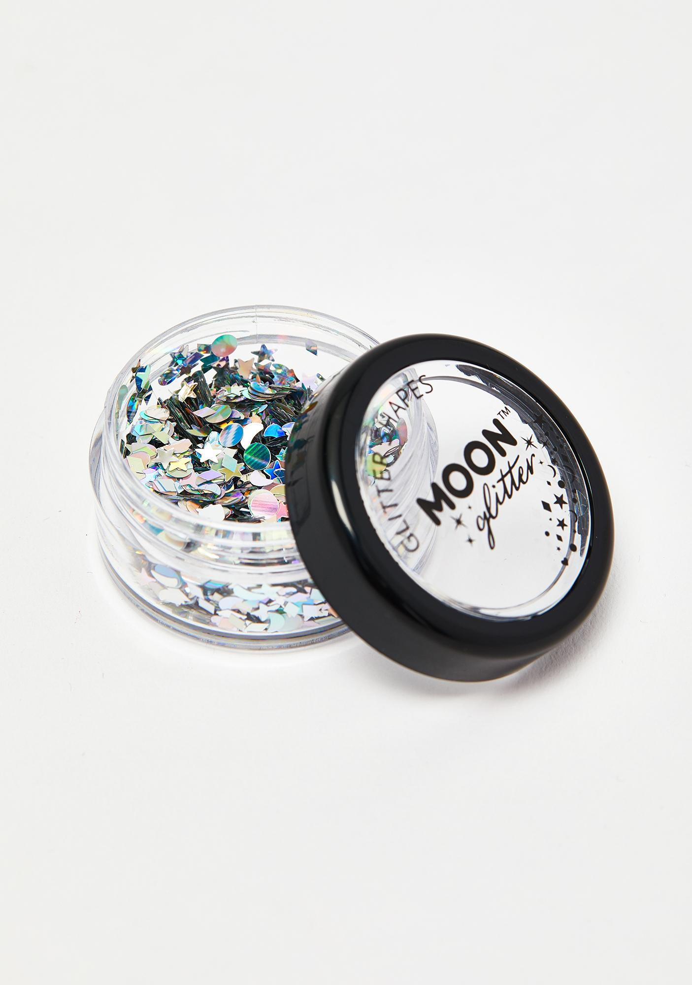 Moon Creations Silver Holographic Glitter Shapes