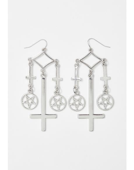 Repent Your Sins Dangle Earrings