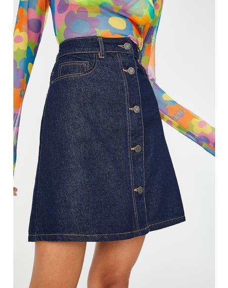 Sunny Corduroy Mini Skirt