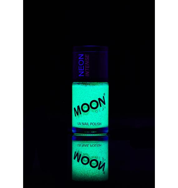 Moon Creations Neon Green UV Glitter Nail Polish