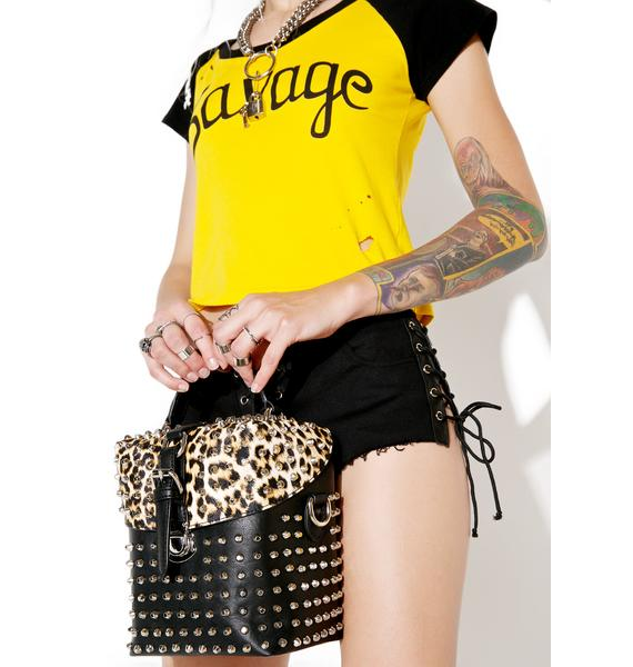 Current Mood Leopard Punx Bag