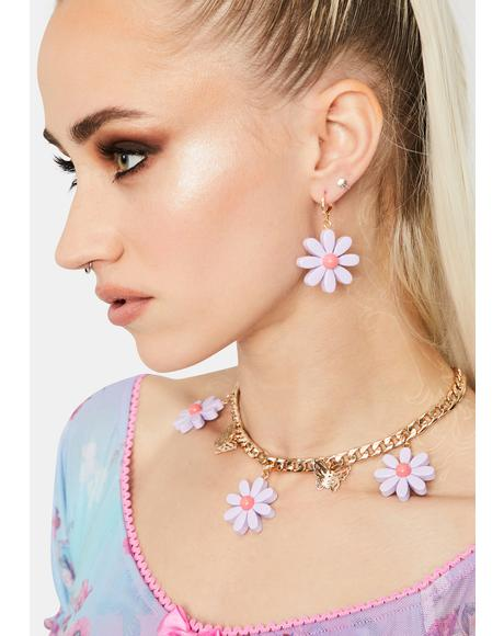Pure Daring Daisy Earrings Set
