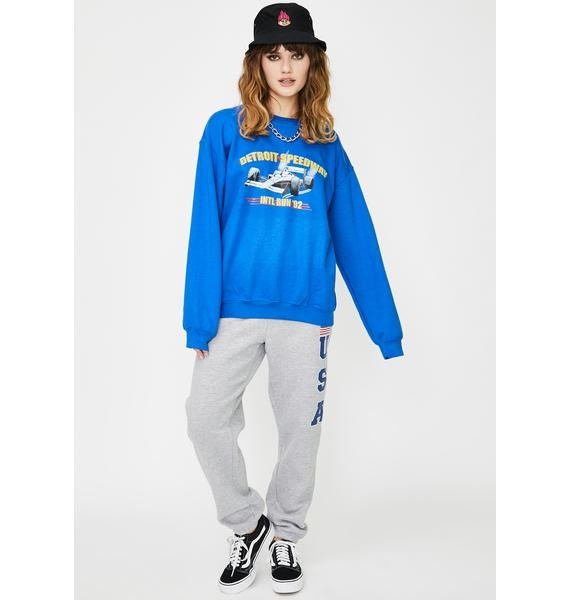 Daisy Street Race Car Graphic Sweatshirt