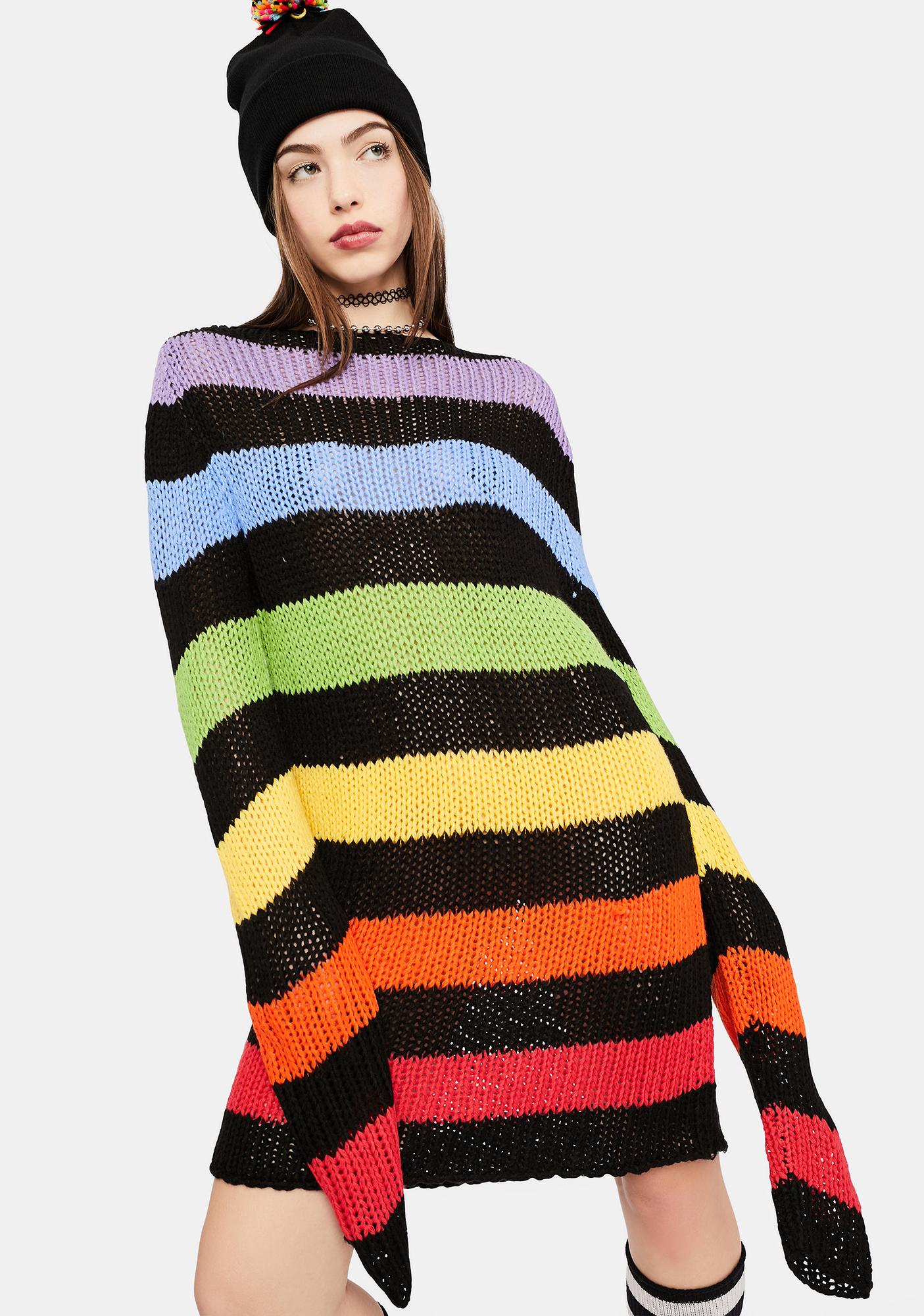 dELiA*s by Dolls Kill More S'mores Knit Sweater