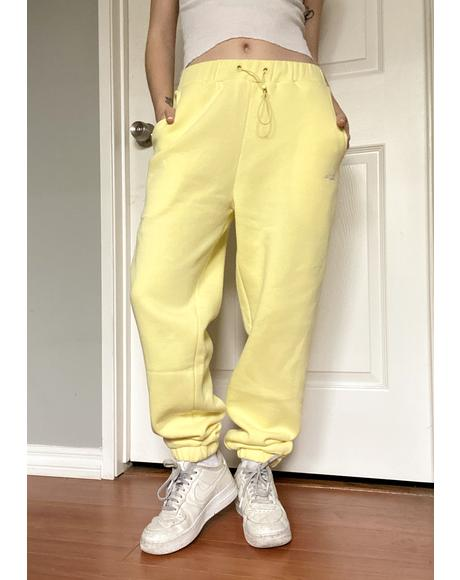 Yellow Jogger Sweatpants