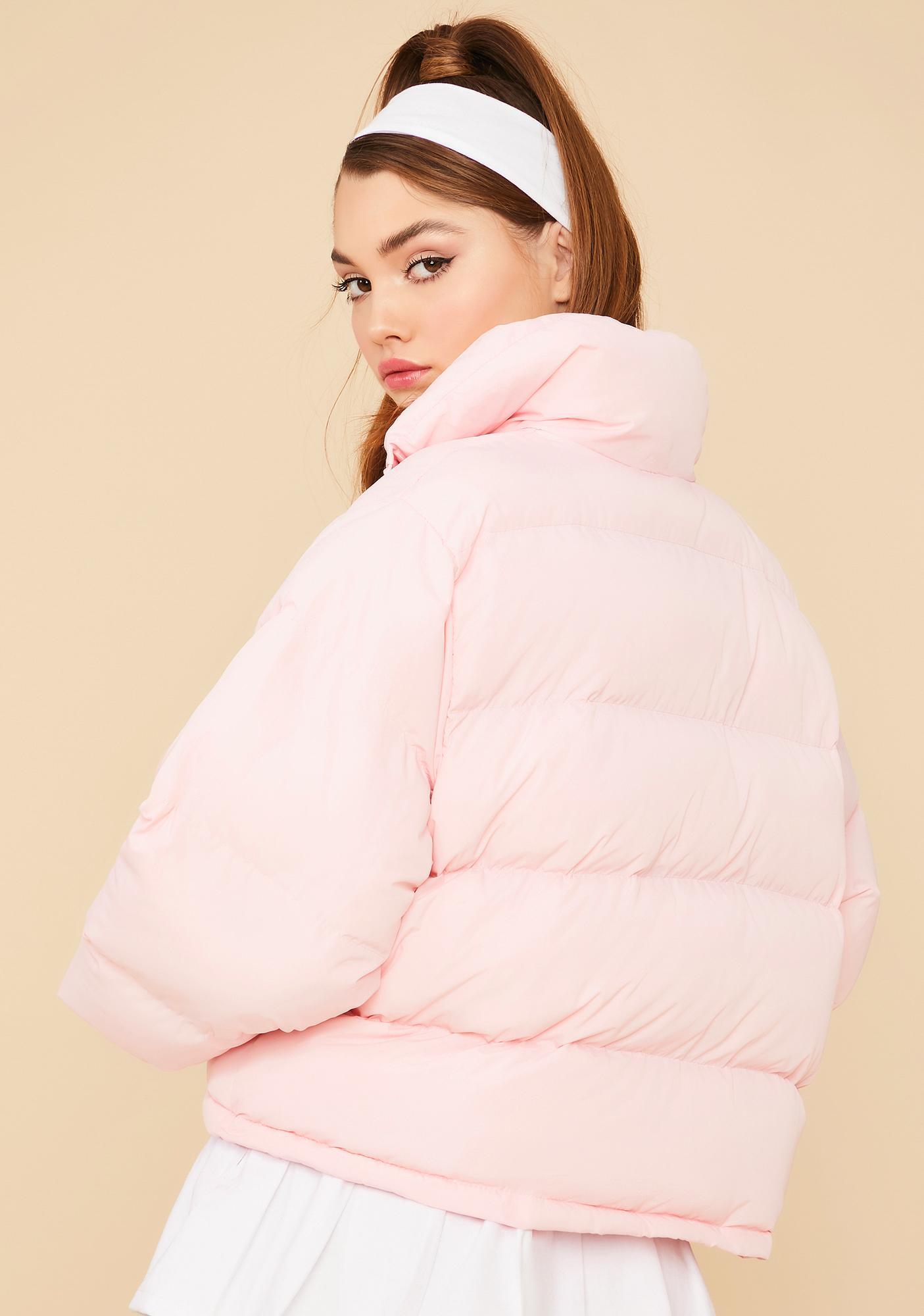 Sweet Cuddle Bug Cropped Puffer Jacket
