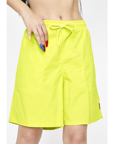 Yellow Fuck It Easy Shorts