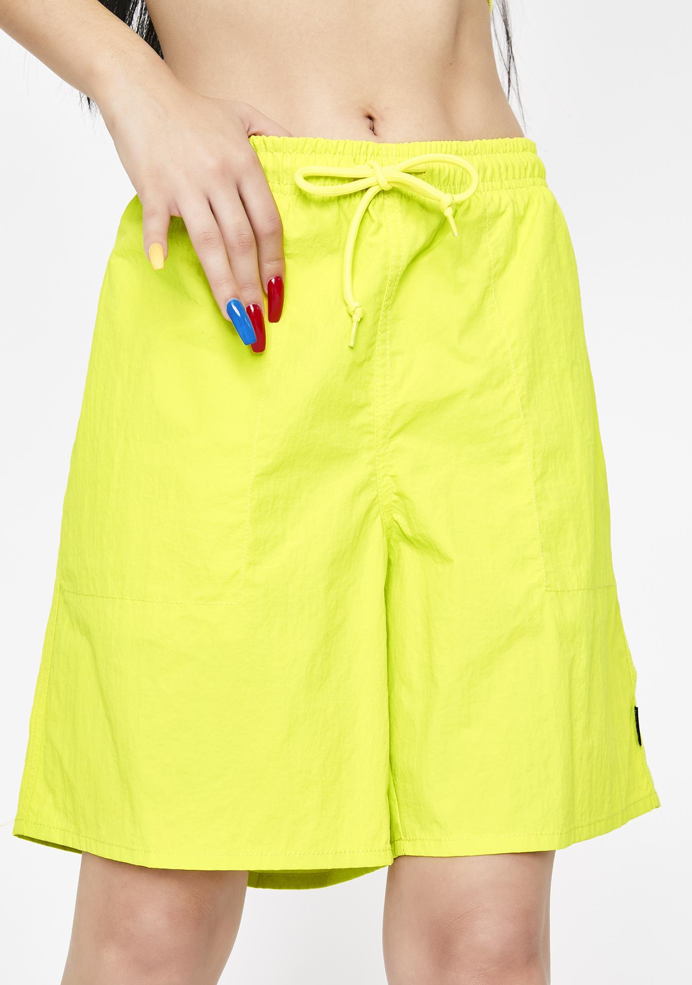 HUF Yellow Fuck It Easy Shorts