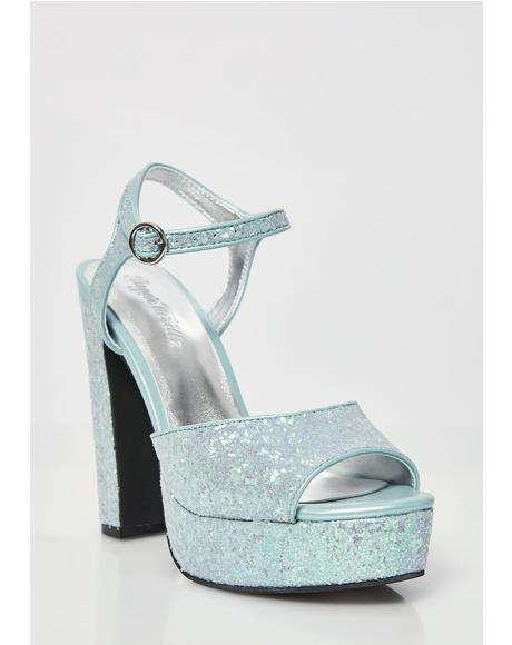 Glam'd Up Glitter Platforms