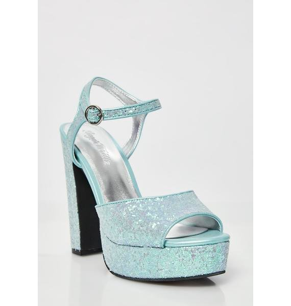 Sugar Thrillz Glam'd Up Glitter Platforms