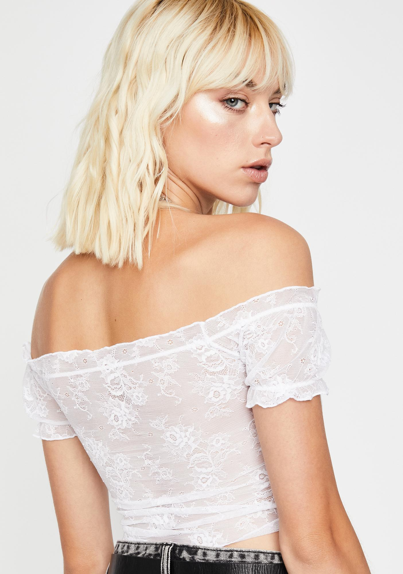 Purely No Drama Lace Crop Top