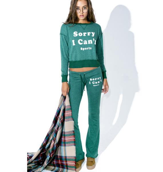 Wildfox Couture Sorry I Can't Sloan Sweatshirt