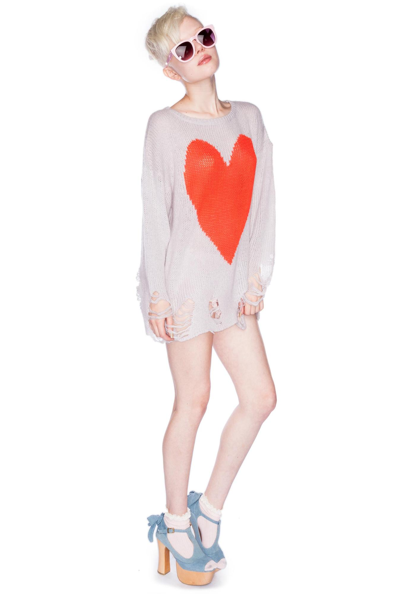 Wildfox Couture Bianca Jagger Lennon Sweater