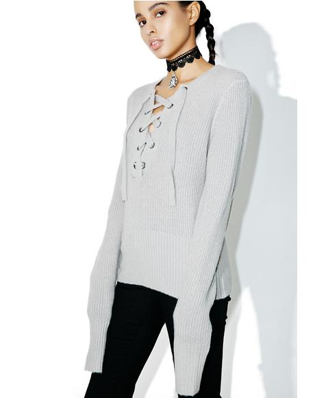 Smoke Feelin� Yew Lace Up Sweater