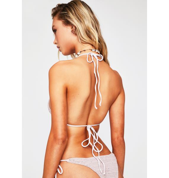 Frankies Bikinis Orchid Fiona Crochet Bikini Top