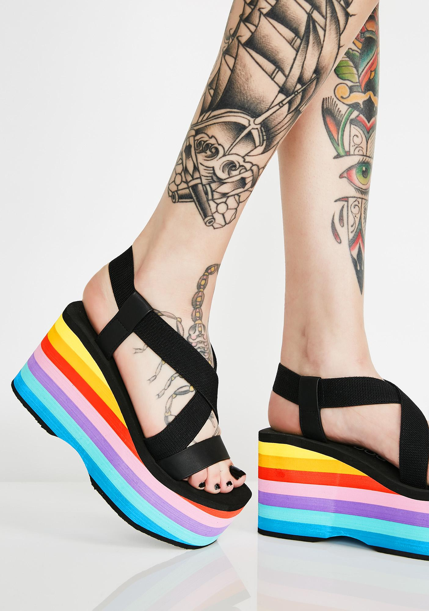 Rocket Dog Bayer Stripe Platform Sandals