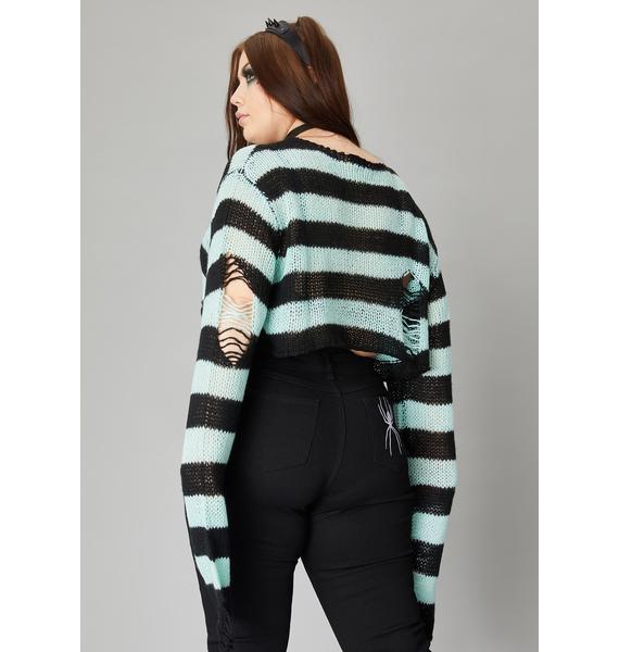 Widow Lush Wicked Super Creep Striped Sweater