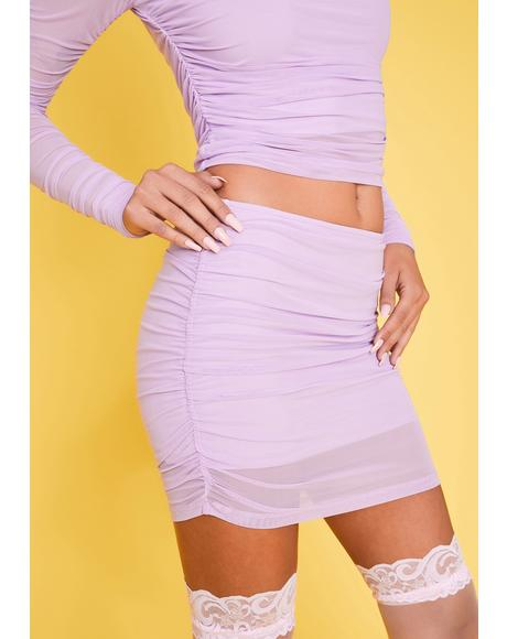 Keepin' The Peace Mesh Skirt