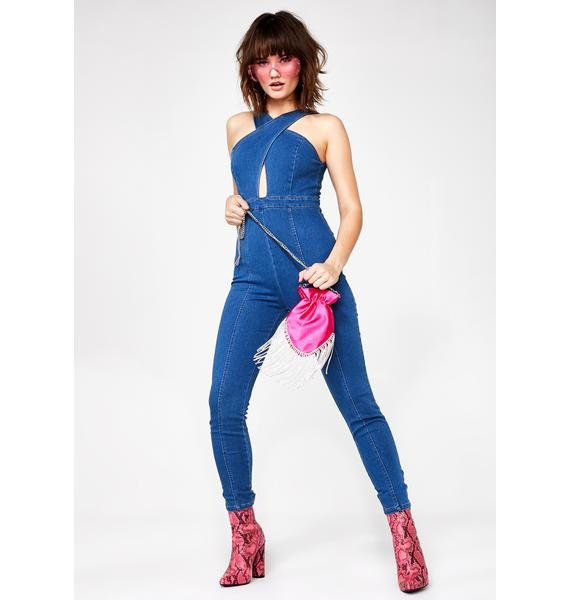 Sashay Away Denim Jumpsuit