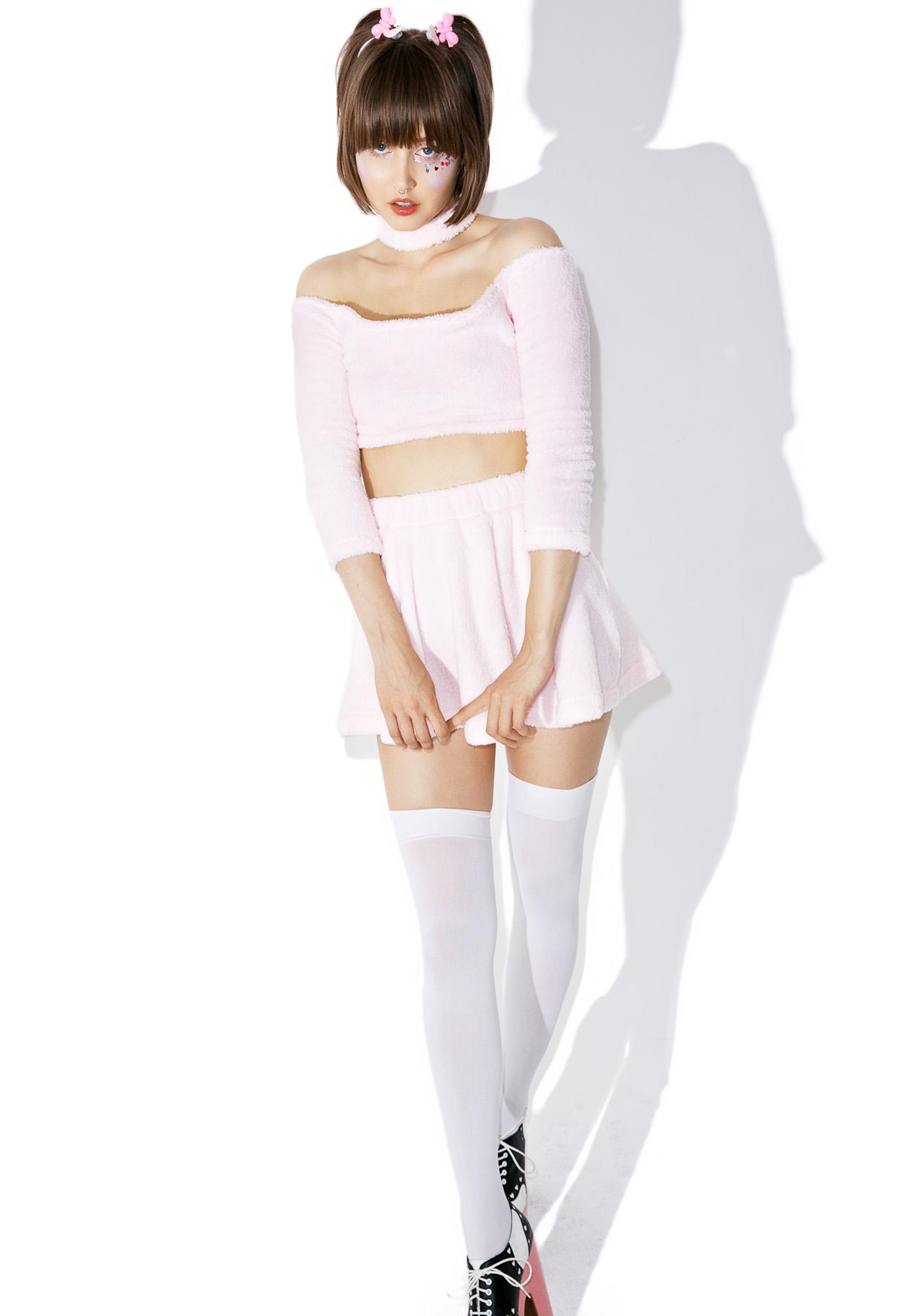Melonhopper Candy Fluff Choker Crop Top