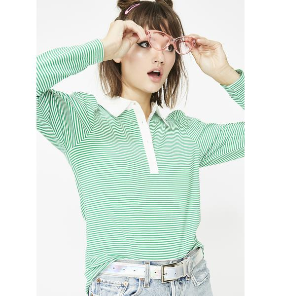 Best Part Striped Polo