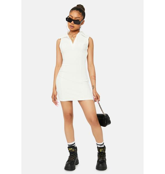 Up To You Terry Cloth Mini Dress