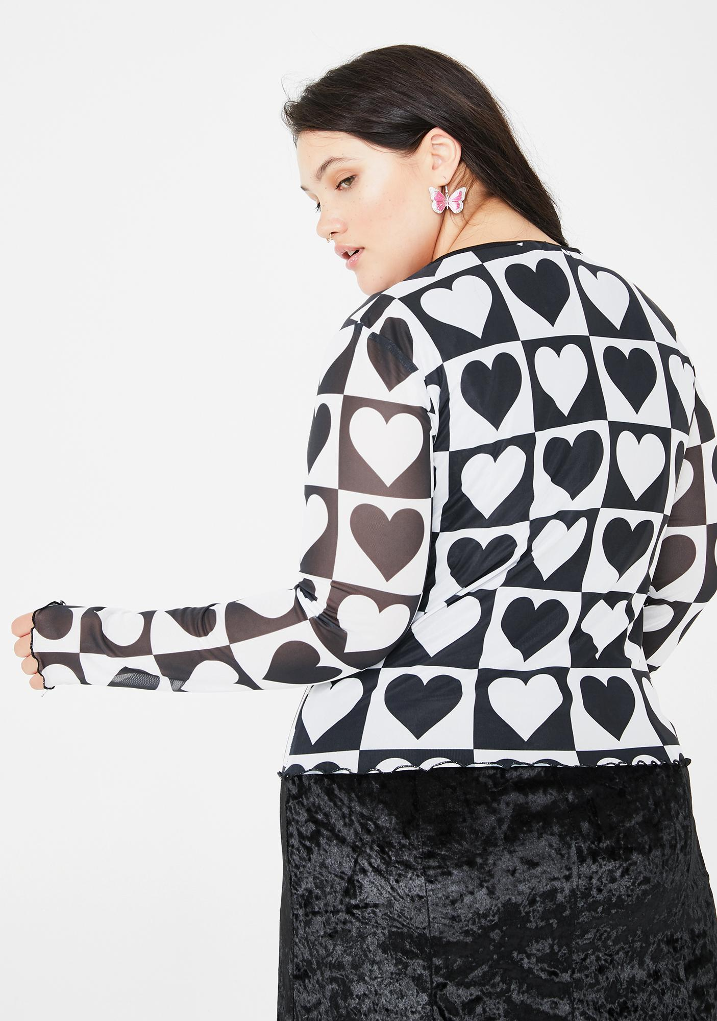 dELiA*s by Dolls Kill Totally True To Your Heart Mesh Top