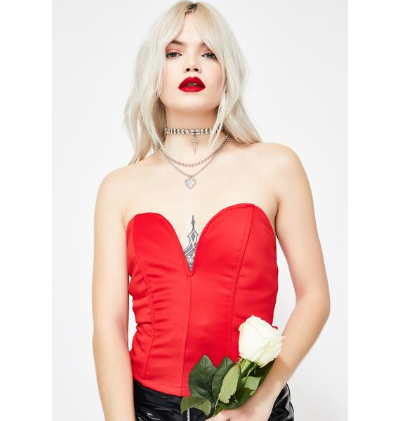The Cool Girls Strapless Bustier