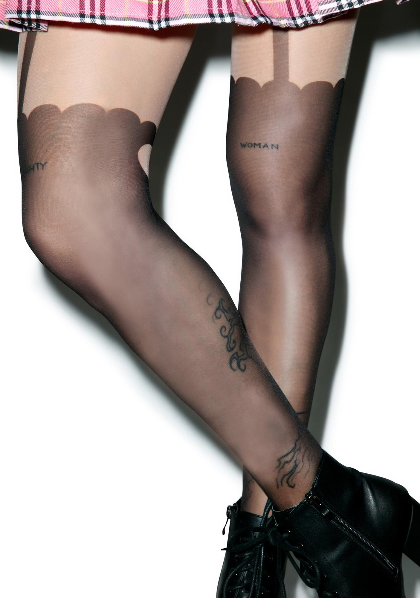 Sugar Thrillz Garter My Heart Tights