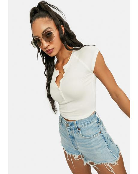 Cream Called You Out Crop Top