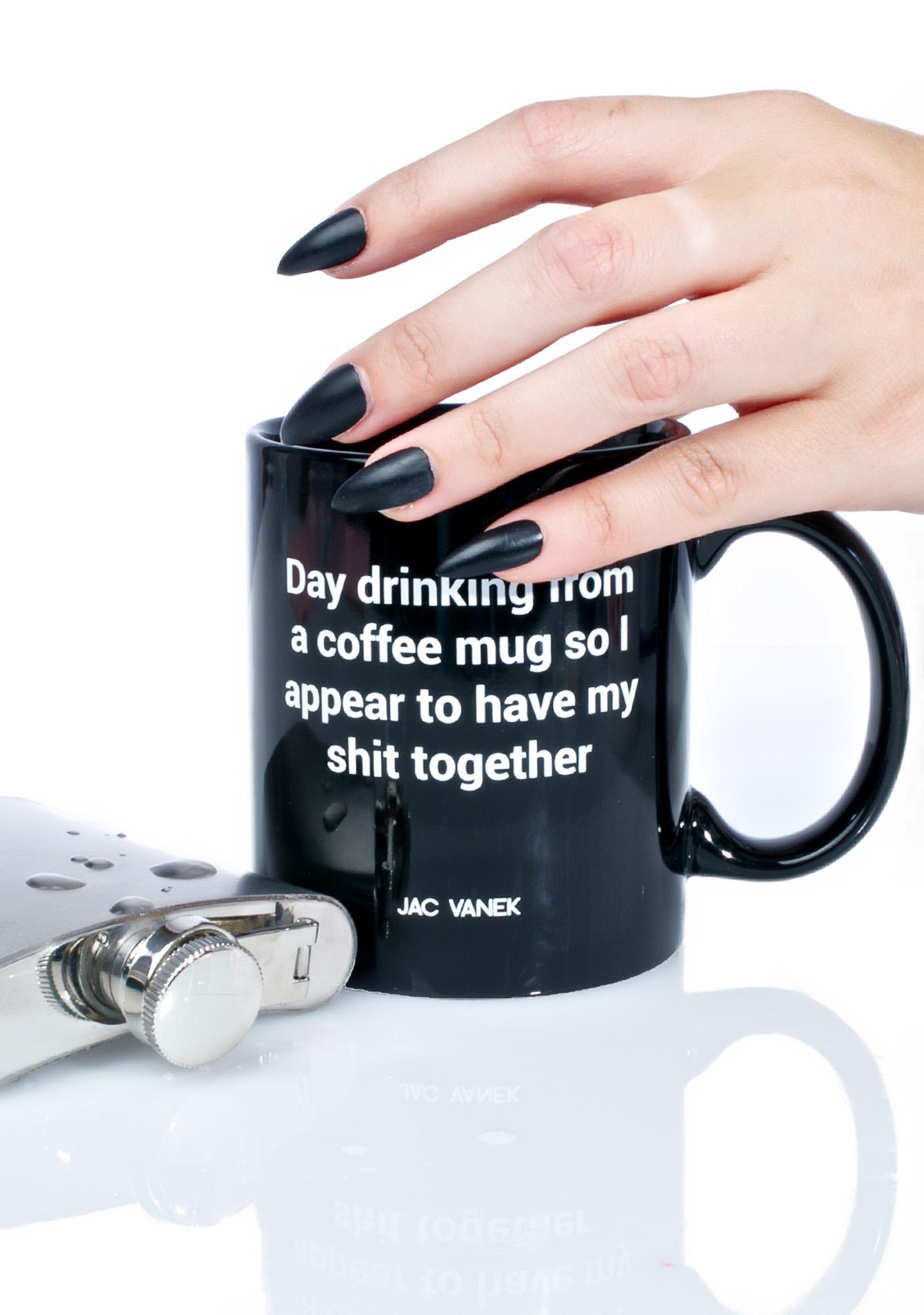 Jac Vanek Day Drinking Coffee Mug