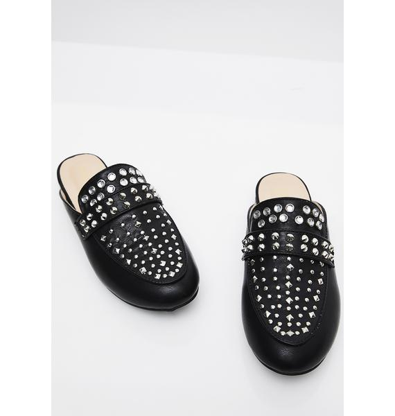 I Mean Business Studded Slides