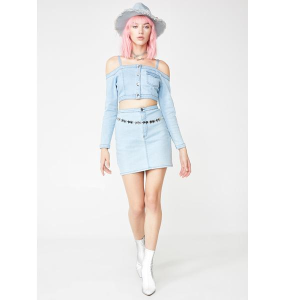 O'Dolly Dearest Dreamgirl Denim Skirt