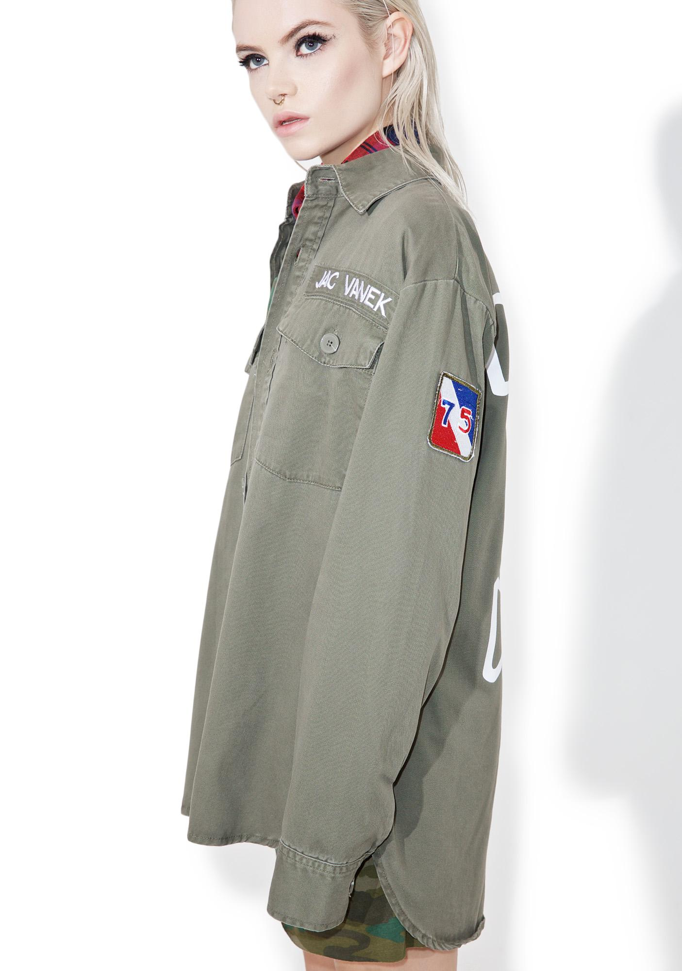 Jac Vanek Don't Be A Dick Army Jacket