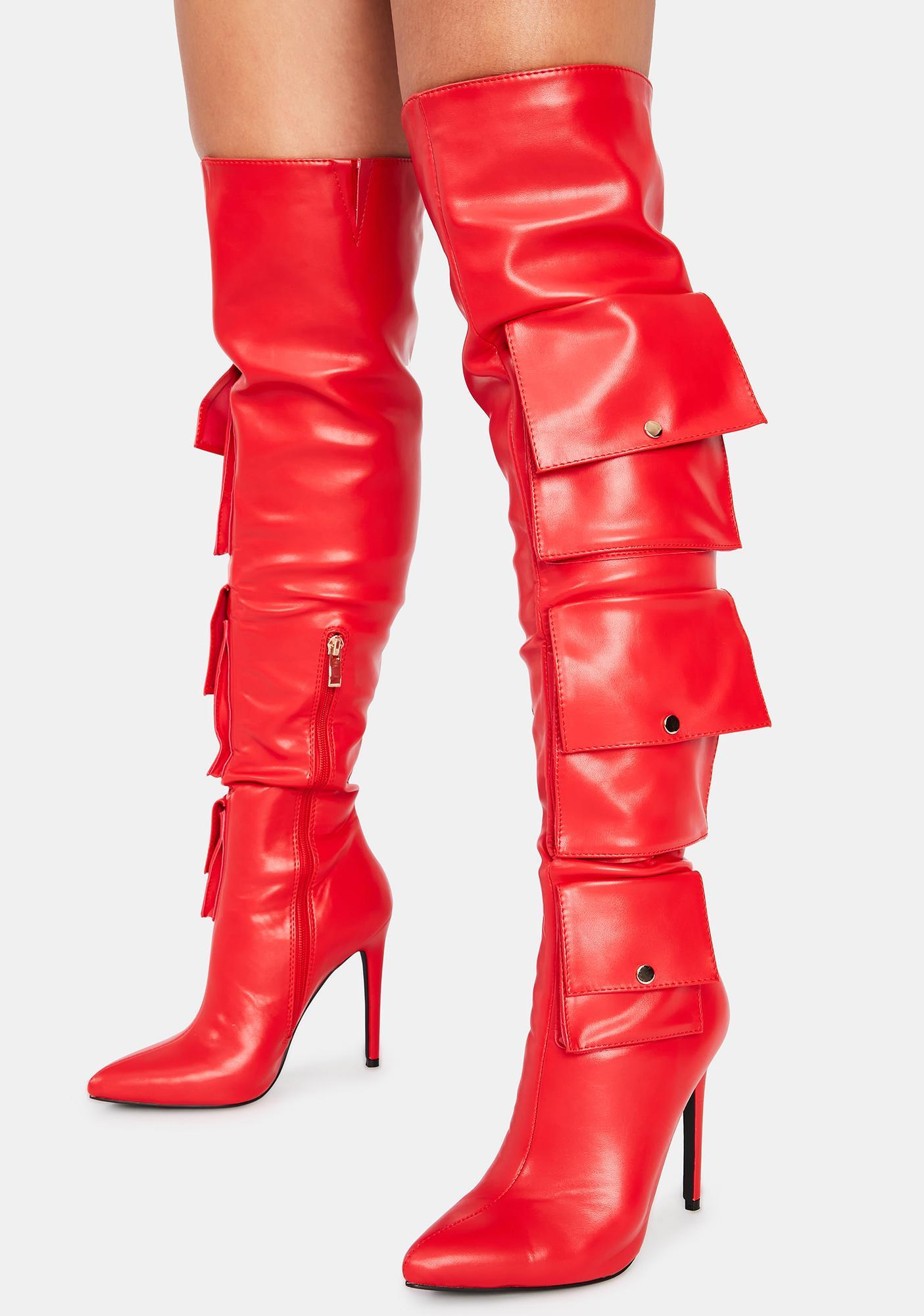 AZALEA WANG Rocket Thigh High Boots