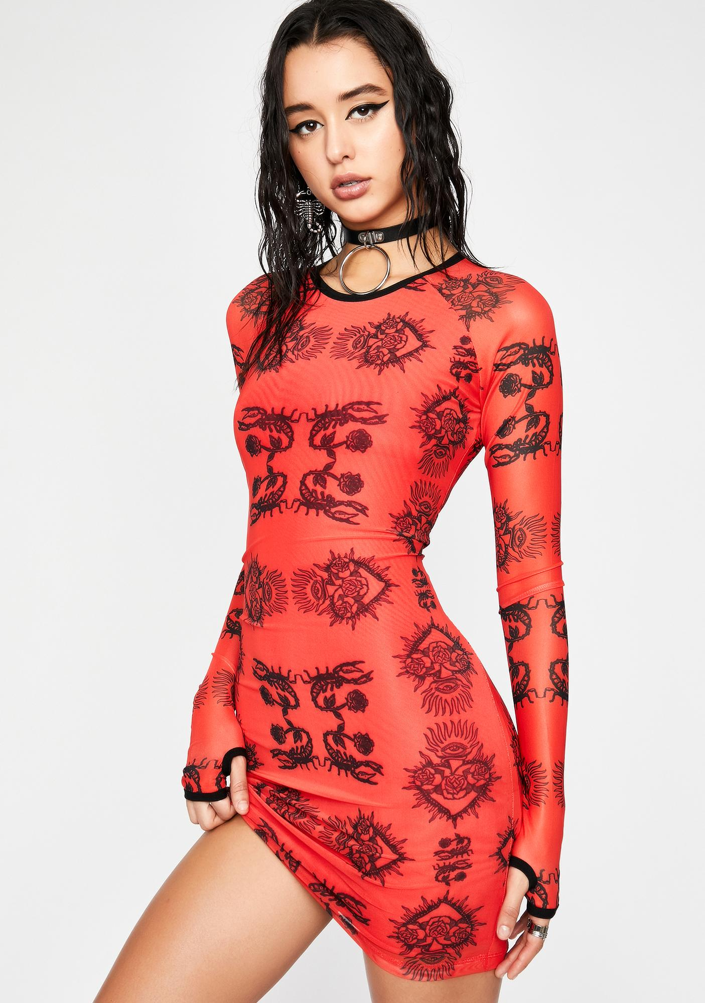 HOROSCOPEZ Dressed To Kill Mesh Dress