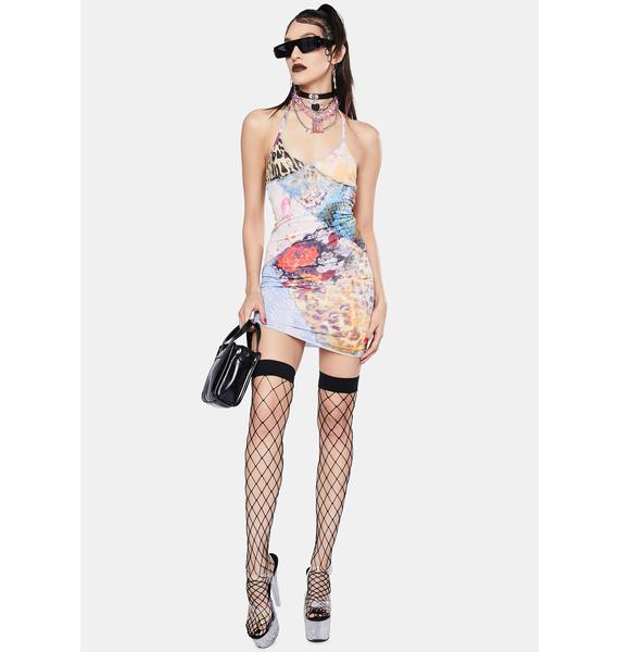 Jaded London Mixed Animal Print Patchwork Cami Dress