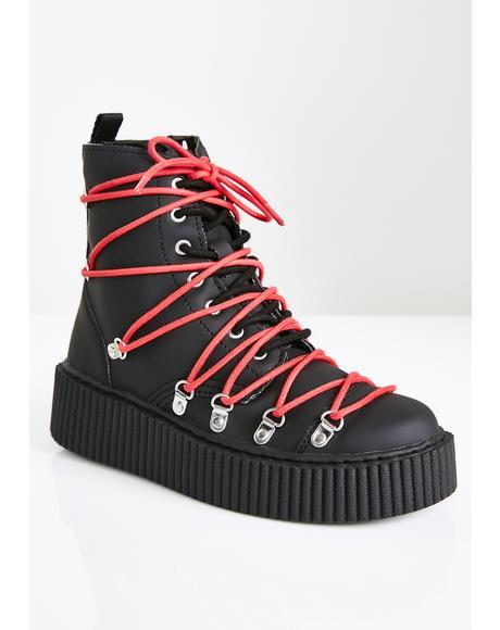 Vegan Multi-Lace Casbah Boots