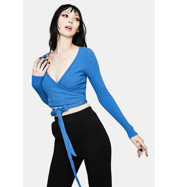 Chill Can Only Imagine Wrap Crop Top