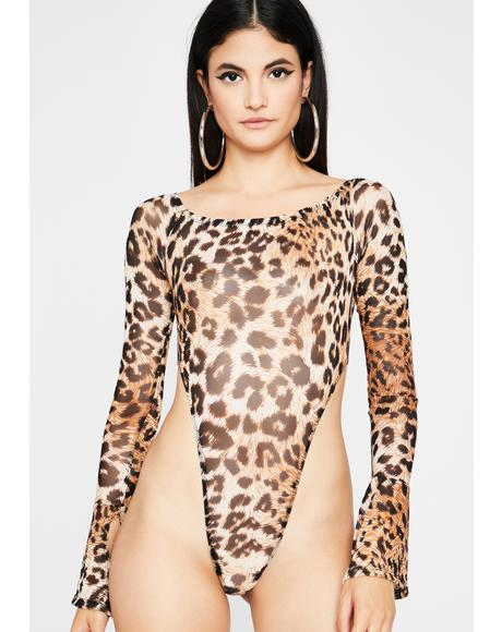 Cattitude Kween Sheer Bodysuit