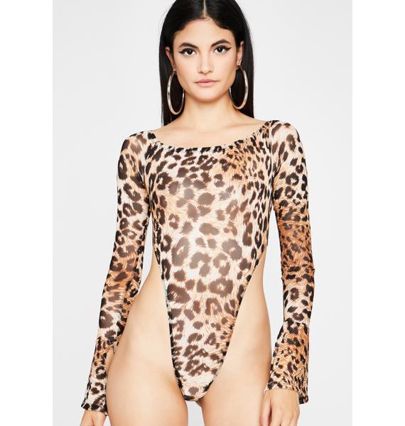 Cattitude Kween Sheer Bodysuit