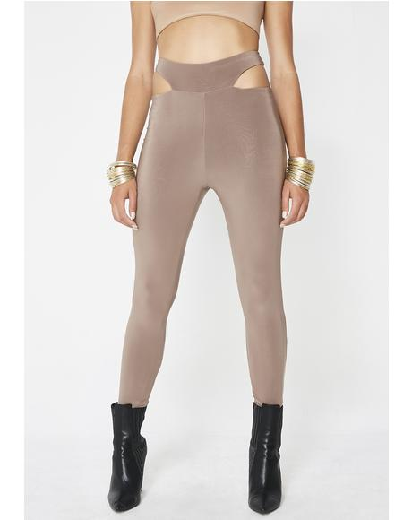 Toasted Aim To Tease Cut Out Leggings