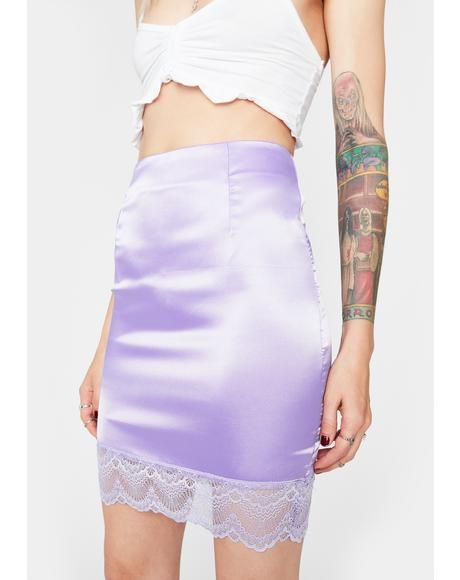 Lavender Pretty Girl Rock Mini Skirt